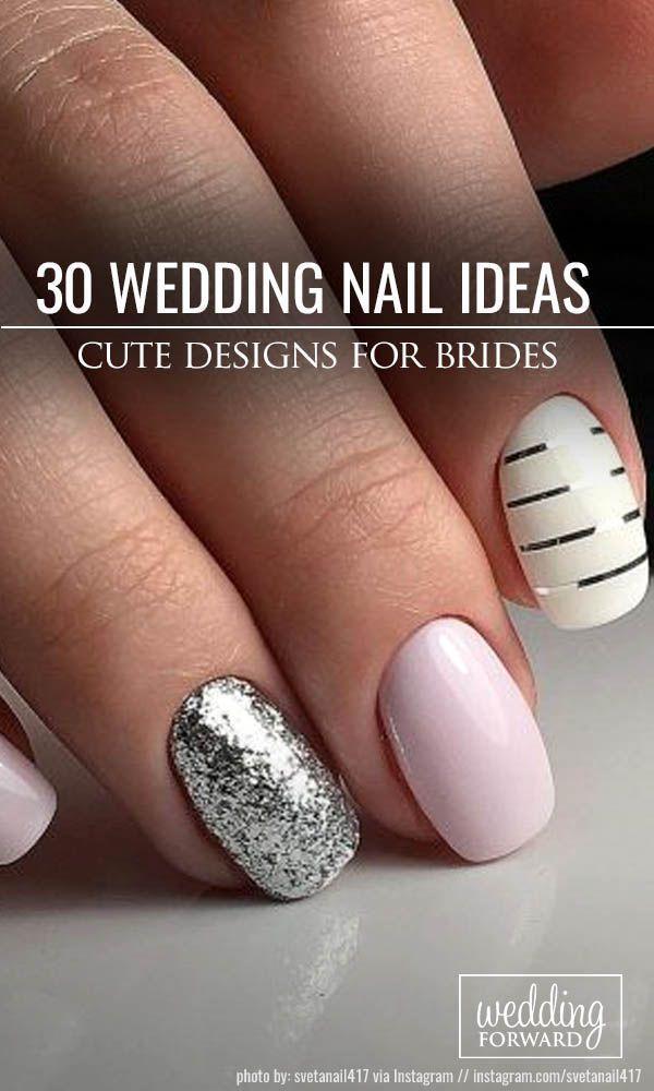 30 cute nail design ideas for stylish brides orange nail designs 30 cute nail design ideas for stylish brides prinsesfo Choice Image