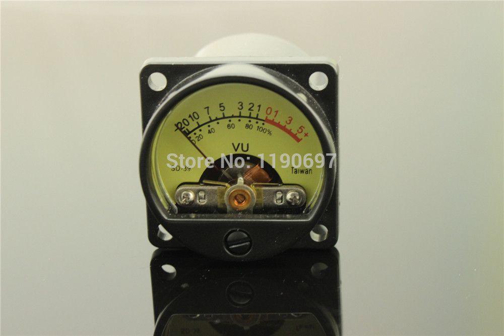 1 조각 대만 500VU 패널 VU 미터 고정밀 오디오 레벨 미터 6-12 볼트 오디오 레벨 따뜻한 백라이트 무료 배송