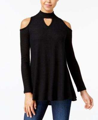806c10a9fa BCX Juniors  Cold-Shoulder Choker Sweater