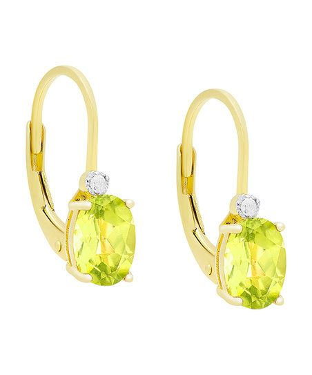 Diamond & Peridot Drop Earrings | zulily