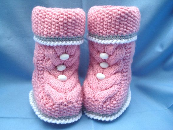 P A T T E R N Baby Booties Baby Schuhe Muster gestrickt Baby Booties ...