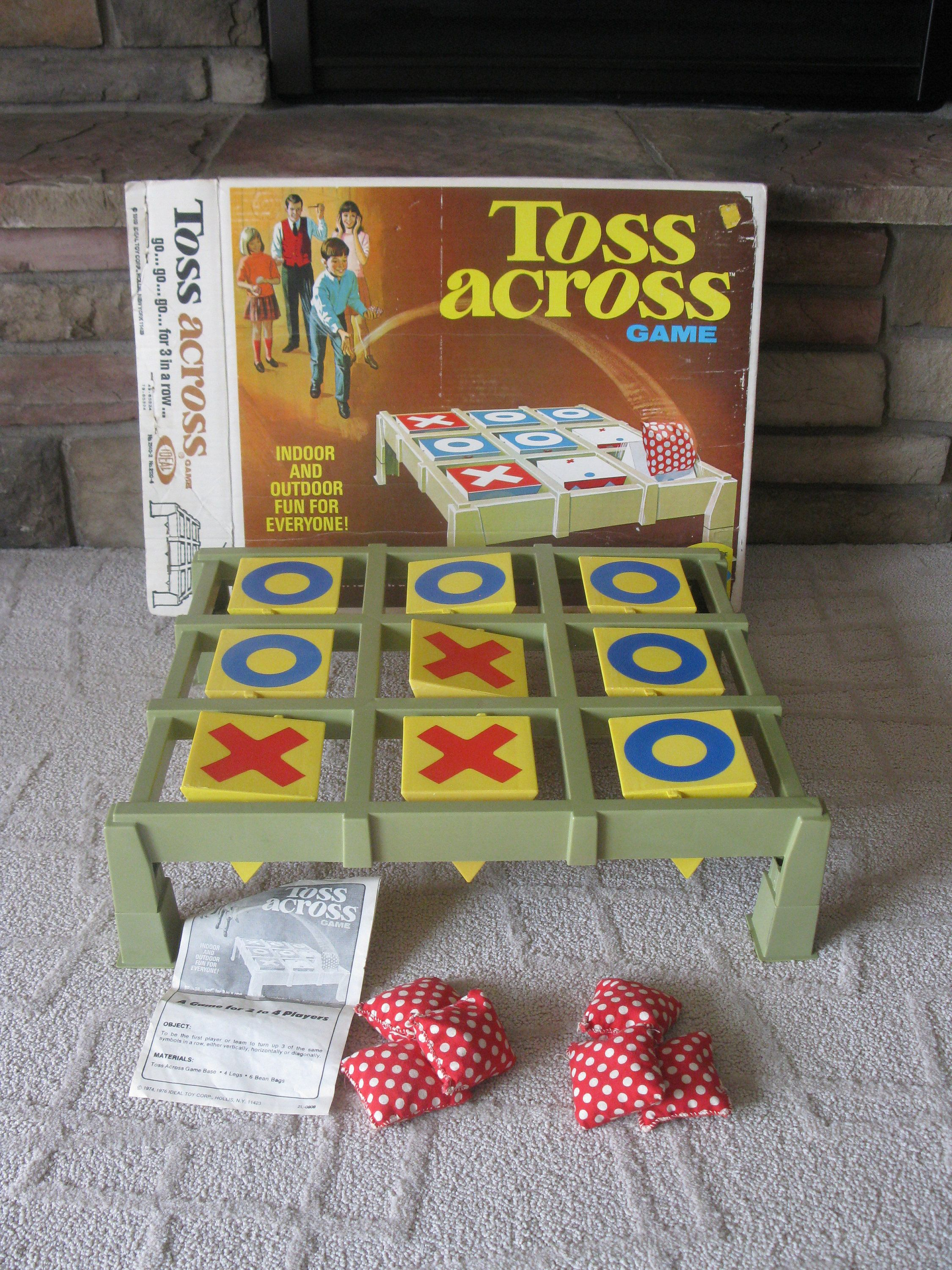 Vintage 1969 Toss Across Game By Ideal Complete With Bags