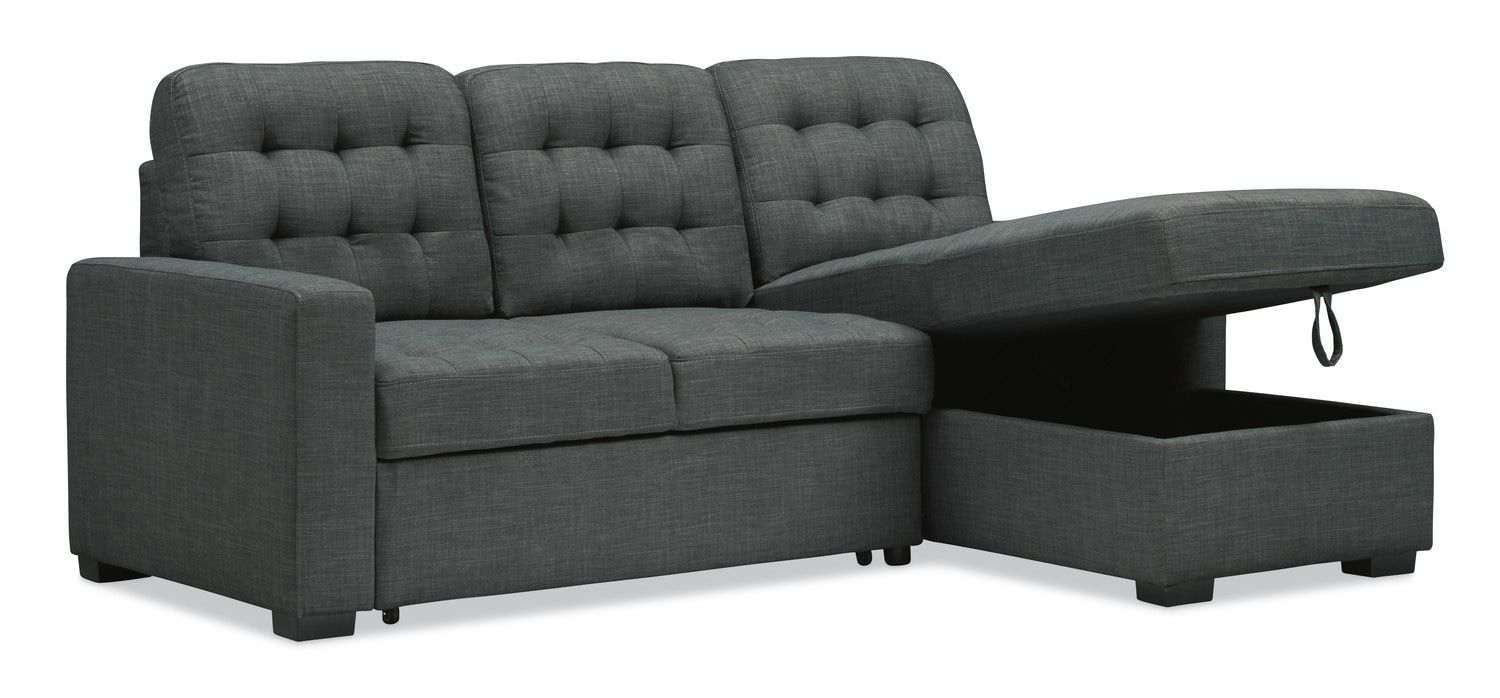 Best Chatman 2 Piece Sleeper Sectional Sofa With Right Facing 400 x 300