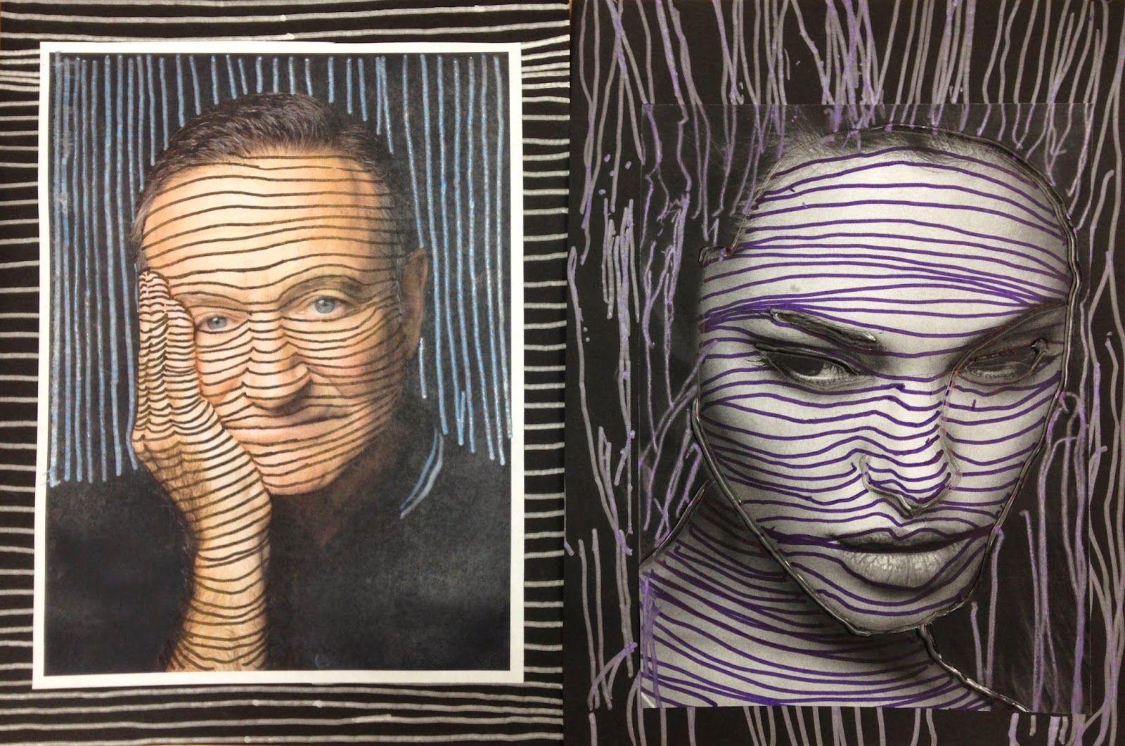Contour Line Drawing Face : Kristen applebee: cross contour lesson art education general