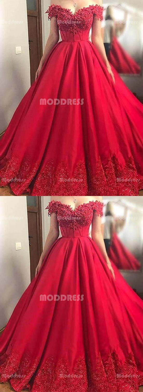 Red lace long prom dresses off the shoulder evening dresses aline