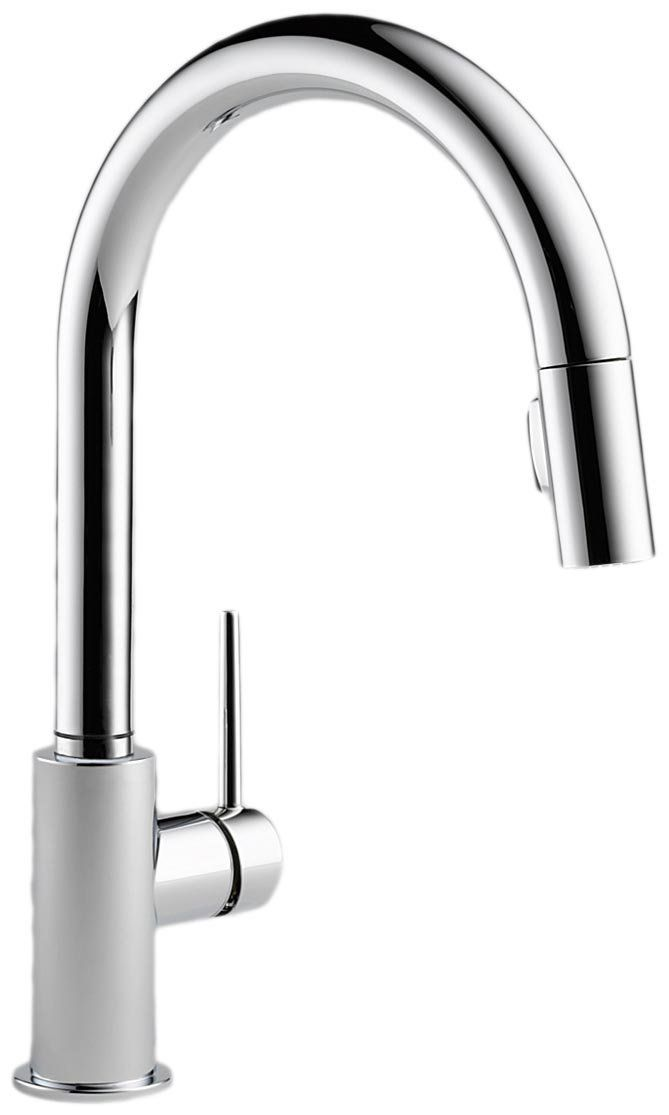 Delta Faucet 9159-DST Trinsic Single Handle Pull-Down Kitchen Faucet ...