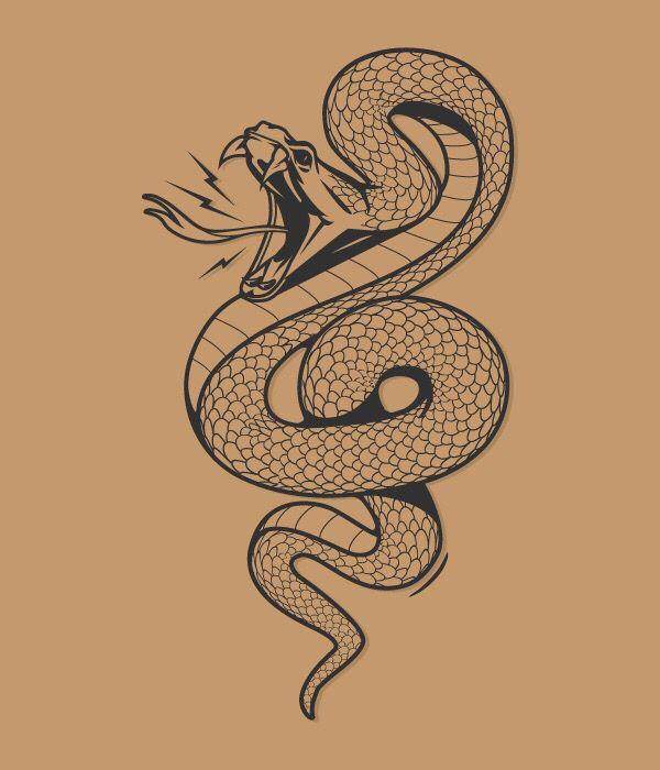 Line Drawing Snake : Snake bite … tatspiration pinterest tattoo