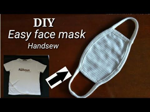 Photo of HOW TO MAKE FACE MASK OUT OF TSHIRT/NO SEWING MACHINE FACEMASK/TSHIRT FACE MASK