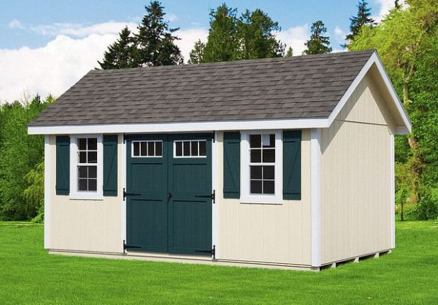 14/' x 12/' Backyard Storage Shed with Porch Plans #P81412 Free Material List