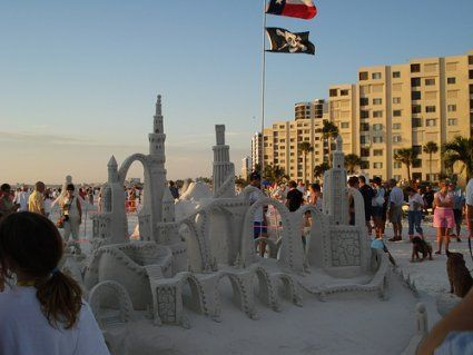 Sand Castle In Fort Myers Beach Every November The Sculpting Contest Takes Place Here I Have Seen Some Of Sculptures Last For A Weeks