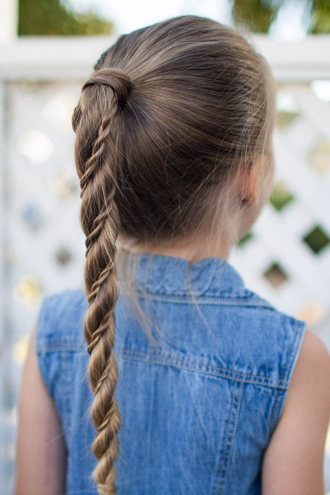 Twist Wrap Ponytail   Kids hairstyles, Easy hairstyles for ...