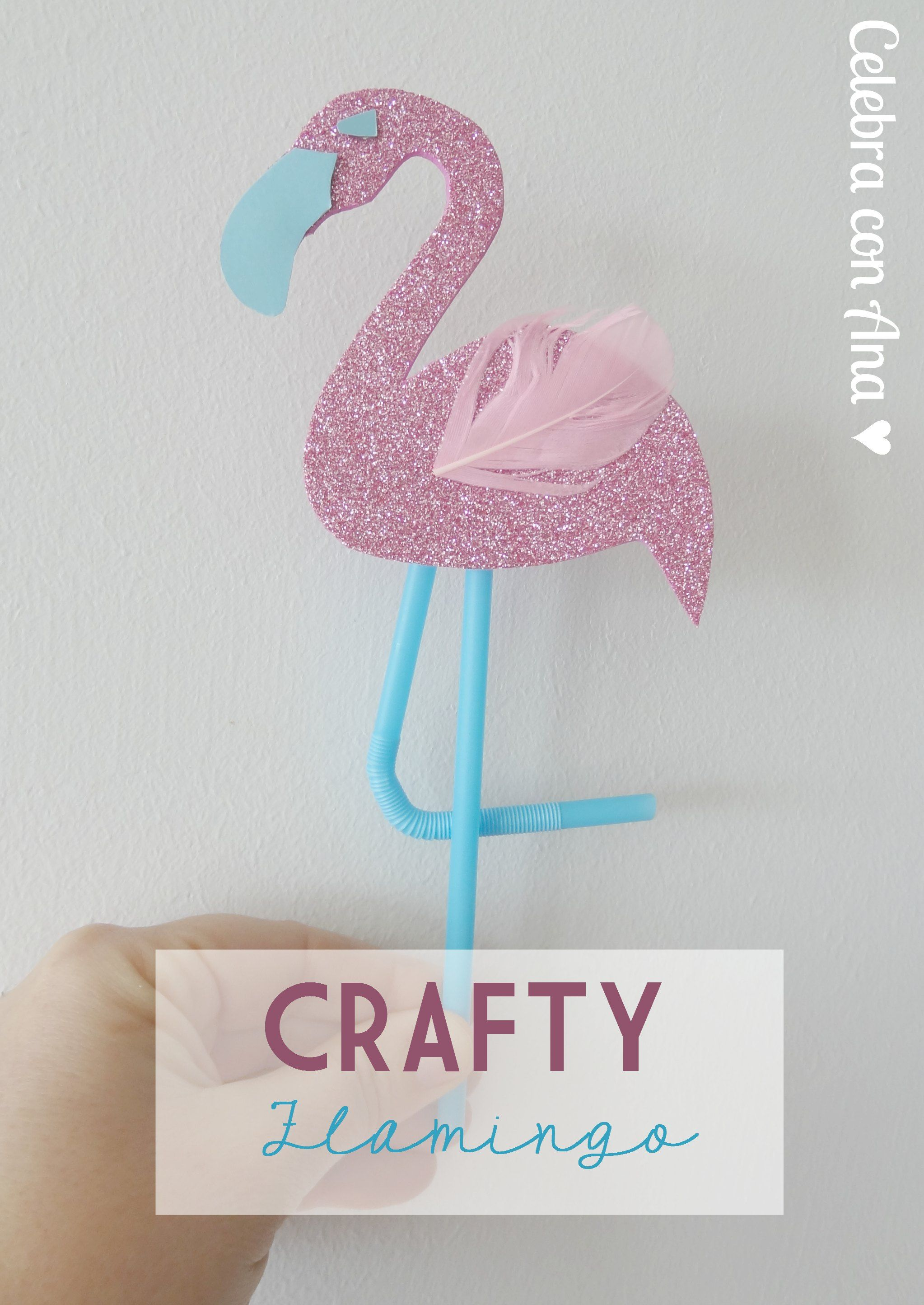 Flamingo topper crafty flamingo manualidades crafts - Manualidades con carton pluma ...