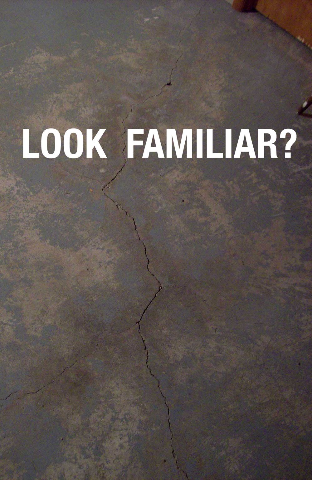 Awesome PROBLEM   Crack In Basement Slab. SOLUTION   Repair The Crack Permanently  Using CrackWeld Floor Repair Kit.