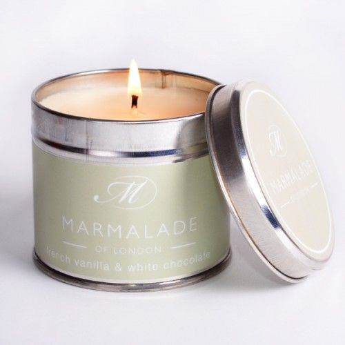 This Marmalade of London French Vanilla & White Chocolate Medium Tin Candle has a rich milk cookie fragrance smoothed by French Vanilla & White Chocolate. http://www.a-choice-of-gifts.co.uk/giftshop/prod_3152377-Marmalade-of-London-French-Vanilla-White-Chocolate-Medium-Tin-Candle.html