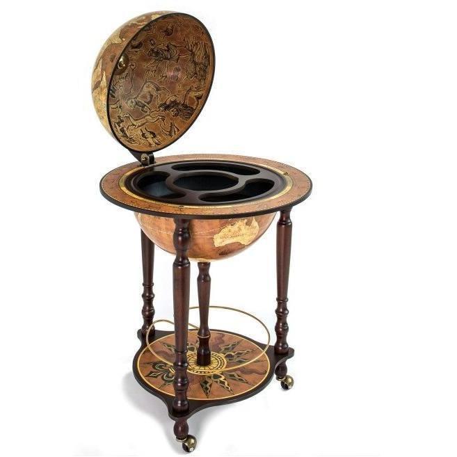 """Da Vinci"" Classic Floorstanding Globe Drinks Cabinet On"