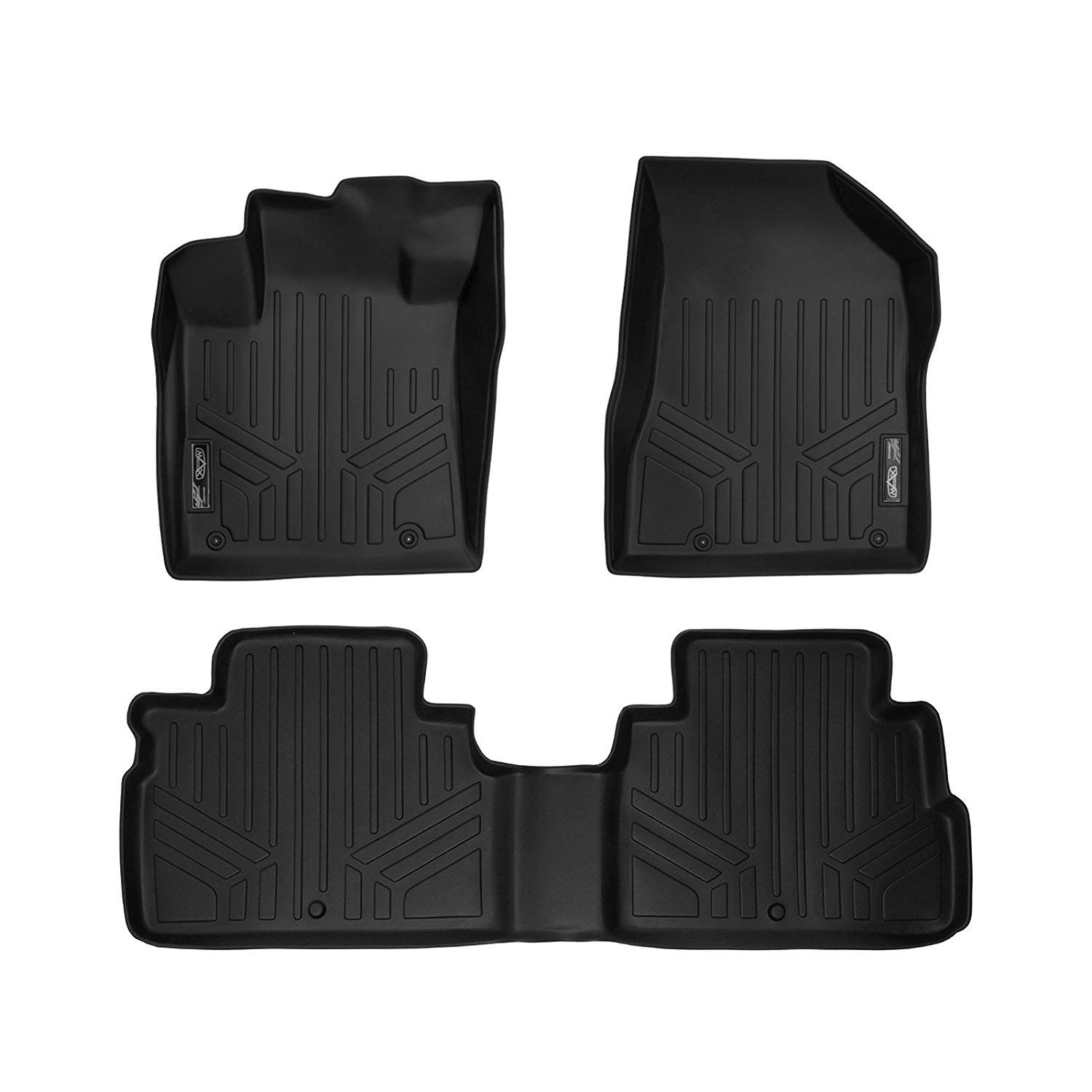 Smartliner Floor Mats 2 Row Liner Set Black For 2015 2017 Nissan
