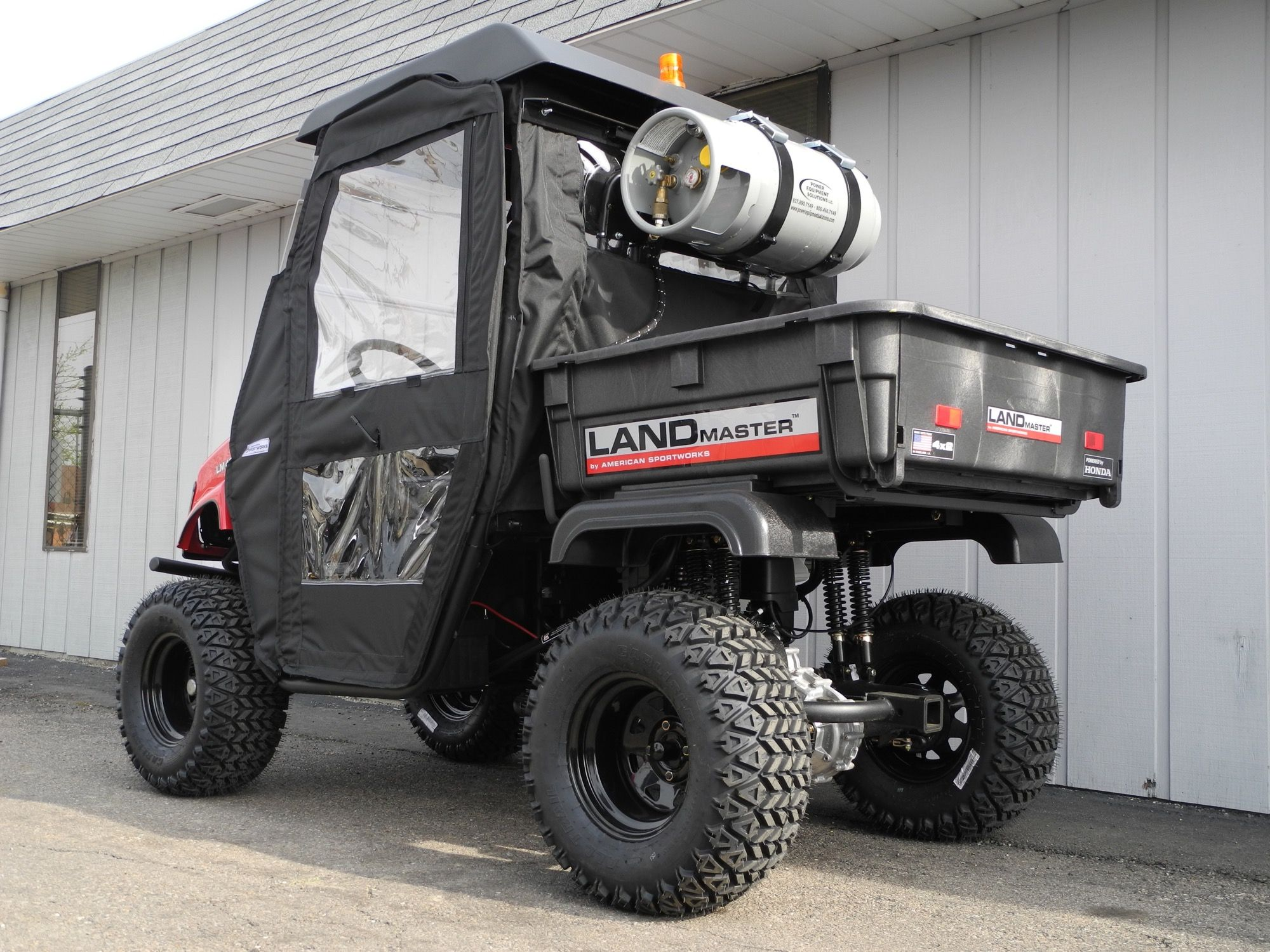 The second of two American SportWorks Landmaster LM400 side