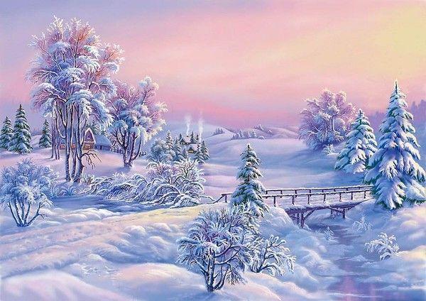 Hiversnowpaysagewinterwallpapersfond D Ecran Peinture