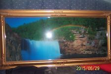 Moving Picture Frame Light Up Birds Water Sound Motion Waterfall