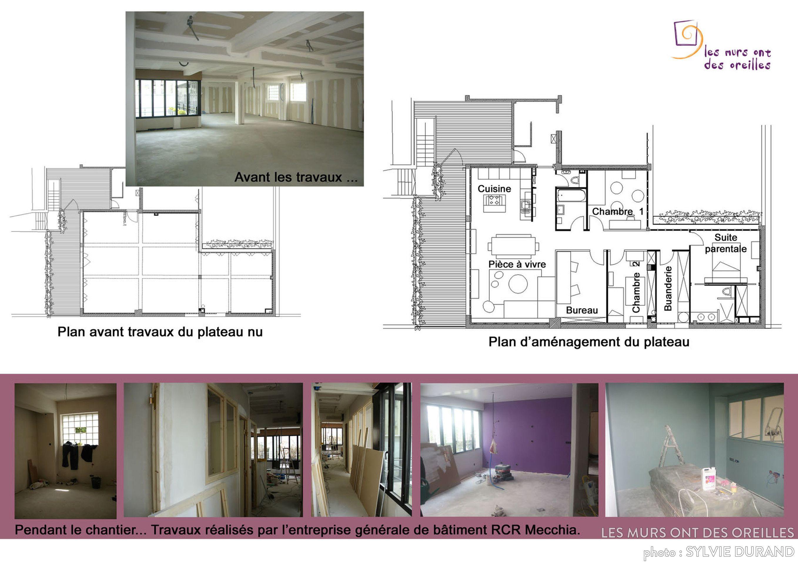 Plan dun appartement famillial avantaprès