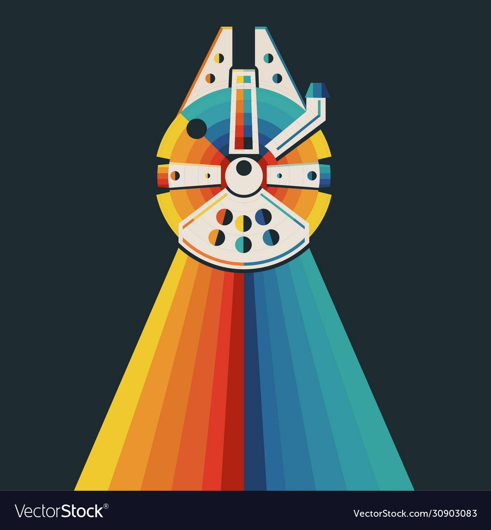 rainbow star wars millenium falcon vector in 2021 | star wars illustration, star  wars drawings, star wars wallpaper  pinterest