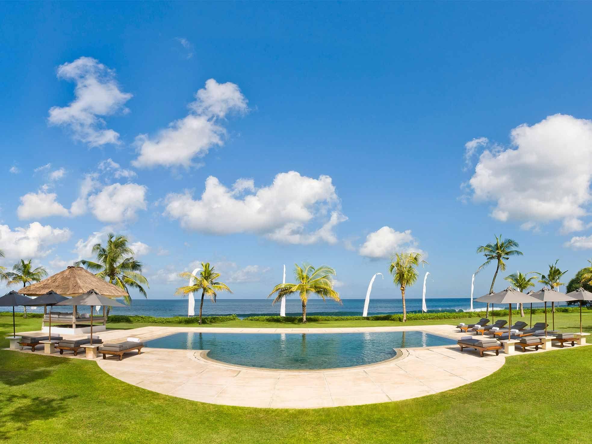 Bali wedding venues on the beach  Villa Atas Ombak is a magnificent  bedroom villa with a superb