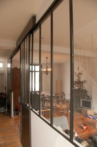 separation vitrée type atelier avec porte coulissante Atelier - porte coulissante style atelier