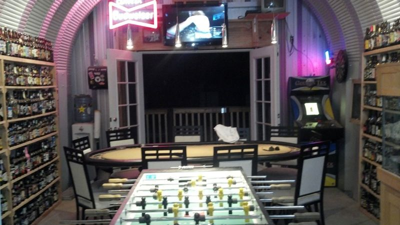 Man Cave Metal : What an awesome man cave and game room! a steelmaster building looks