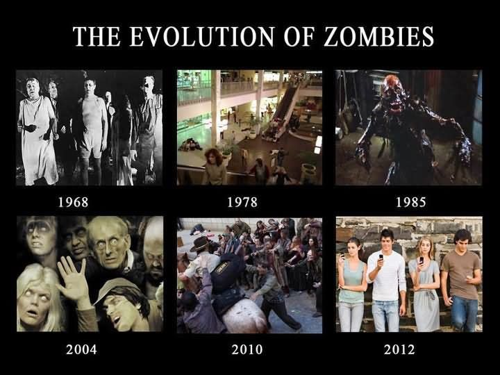 The Evolution Of Zombies Funny Meme Image Zombie Humor Zombie Meme Funny Memes