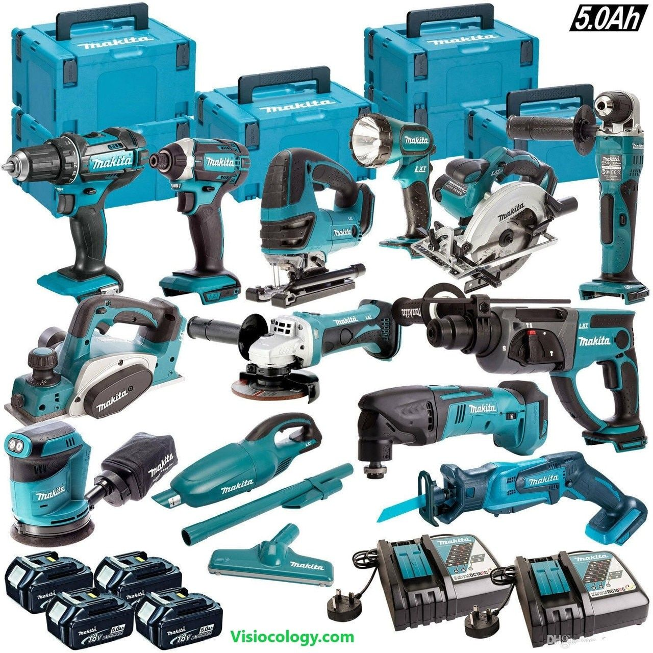13pcs Makita 18v Lxt Cordless Monster Power Tools Combo Kit With 4 X 5 0ah Batteries Charger Case Visiocology Com Online Combo Kit Power Tools Makita