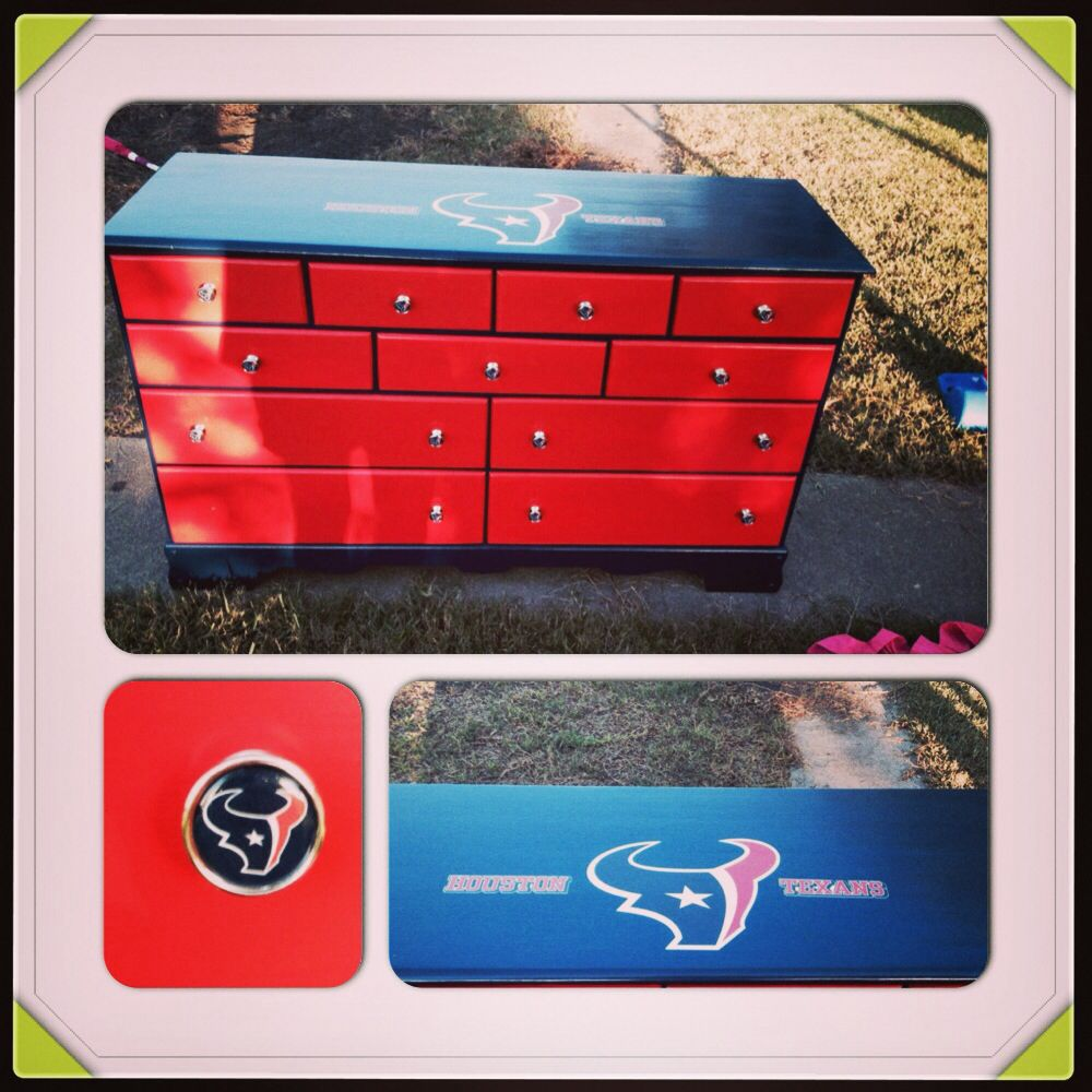 Delightful This Is An Awesome Houston Texans Dresser That I Painted And Decorated