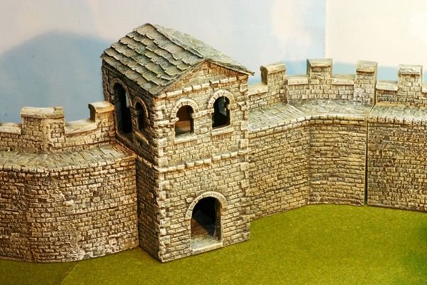 mile watch tower with tile slate roof - Slate Castle Ideas