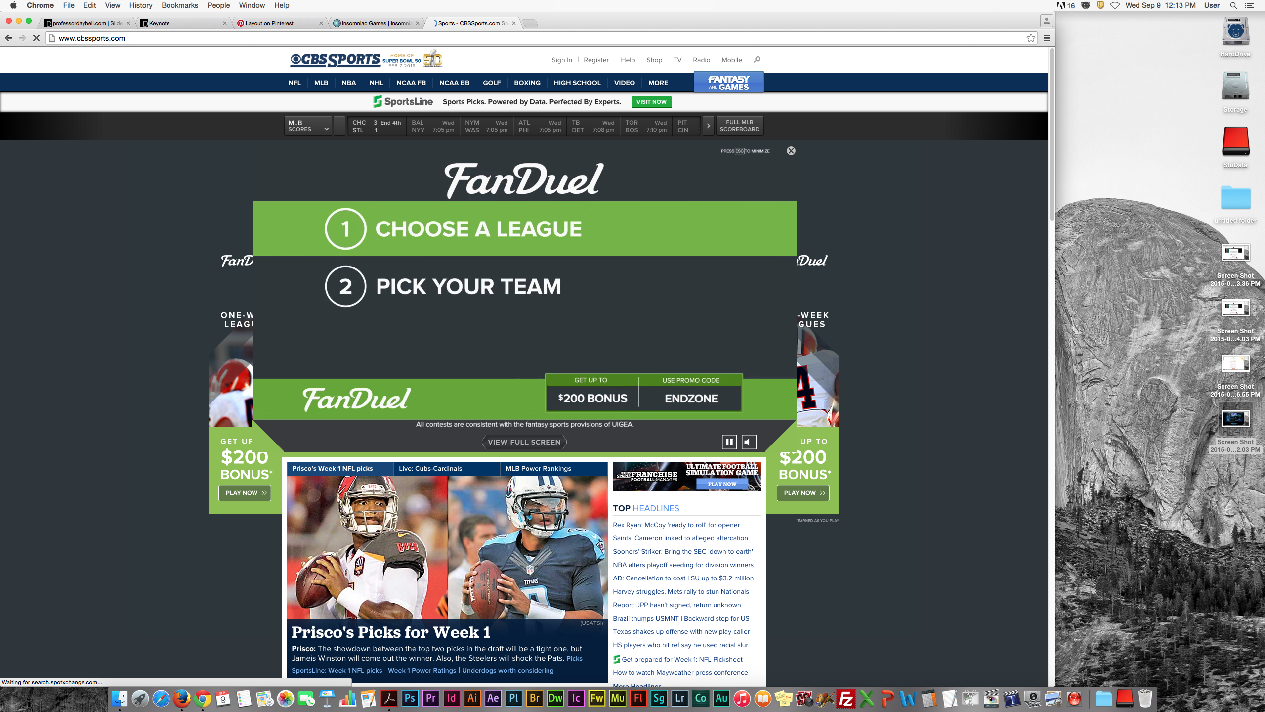 Sports Cbs sports, Fantasy games, Sports news