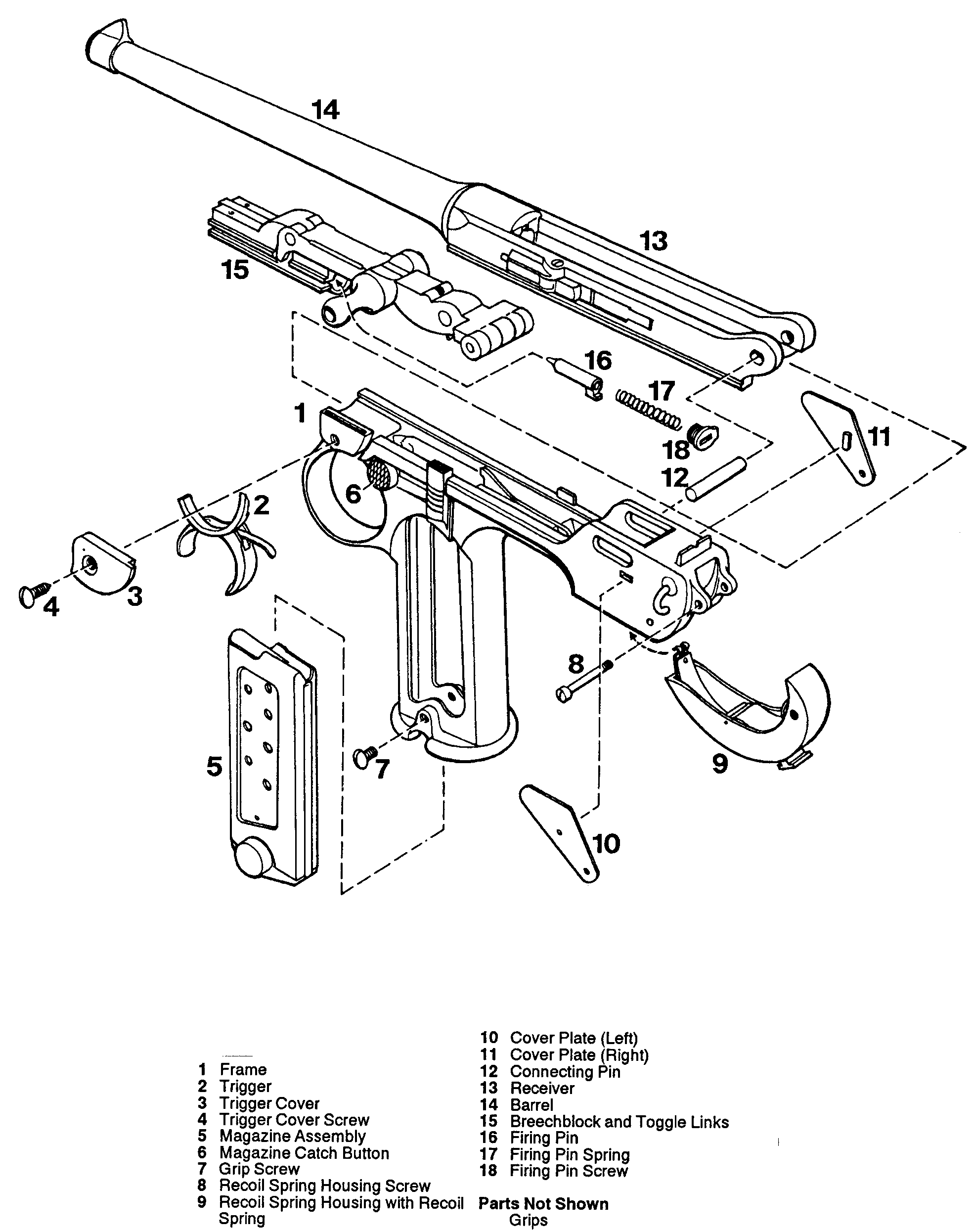 luger p08 blueprint diagram firearms weapons diy crafts anime art german [ 1968 x 2491 Pixel ]