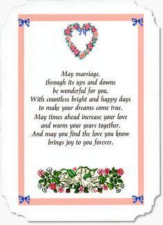 Card Sentiments Wedding Verses By Moonstone Treasures