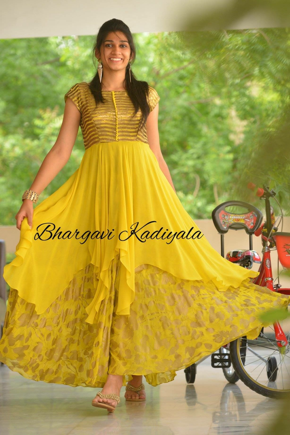 Long dress casual image by Bhoomi's on churidars and