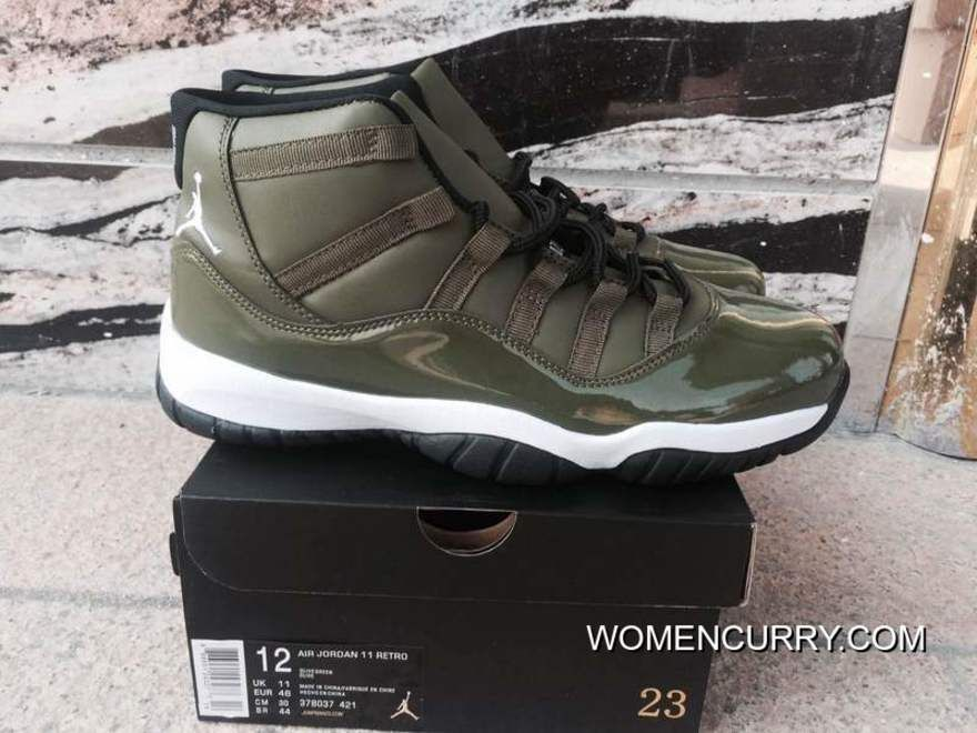 Air Jordan 11 Olive Green Authentic in 2019  a5eb277860e8