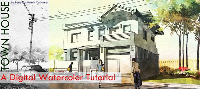 L Arch Viz: The Making of Town House: A Digital Watercolor Tutorial