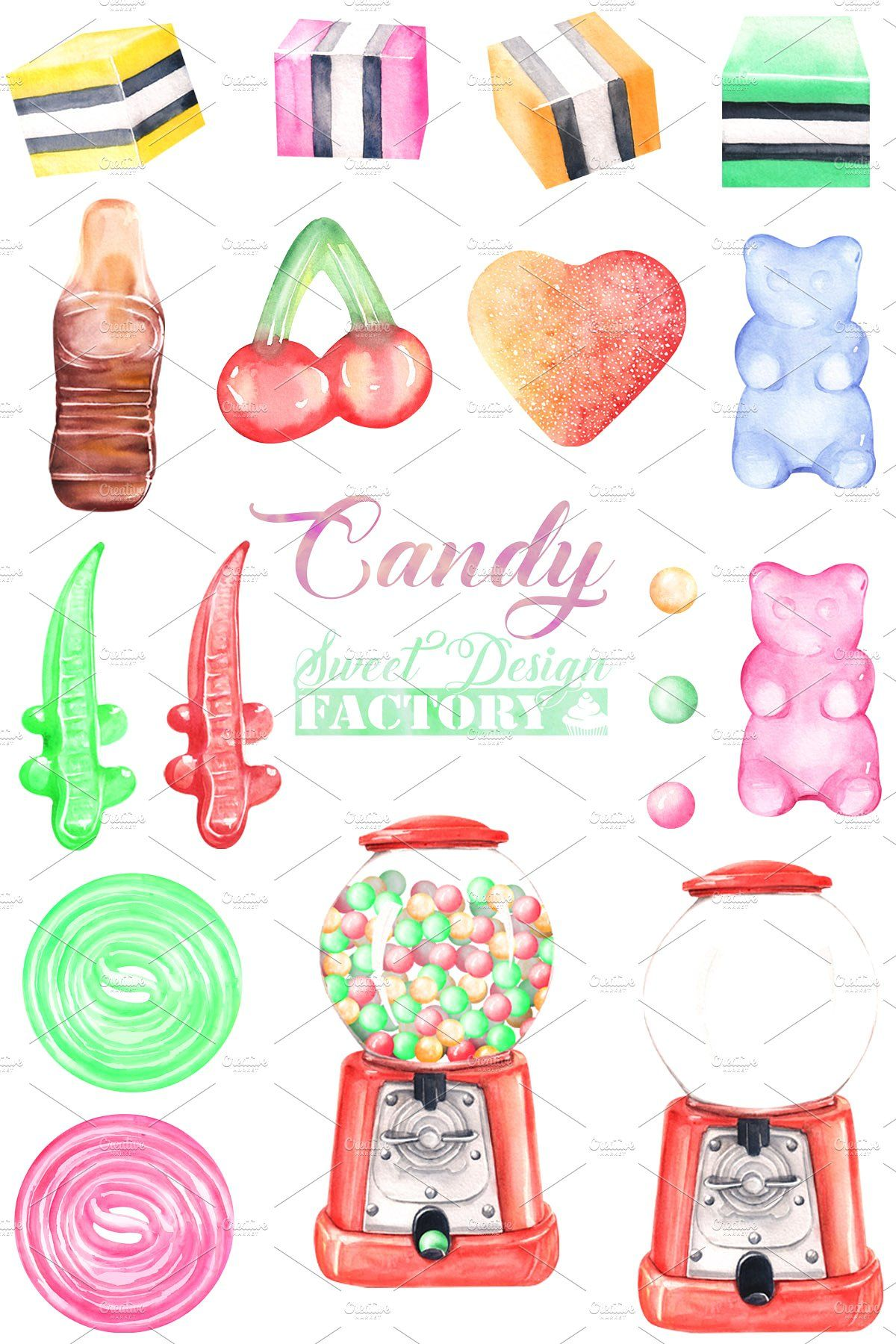Candy cliparts cardmaking funny party printables Logos