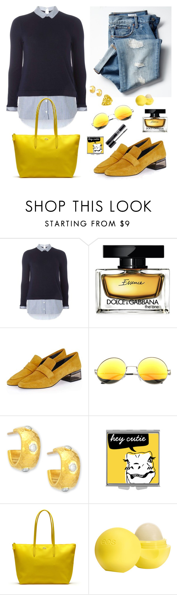"""""""Sin título #1658"""" by mussedechocolate ❤ liked on Polyvore featuring Dorothy Perkins, Gap, Dolce&Gabbana, Topshop, Gurhan, Lacoste, Christian Dior and Eos"""