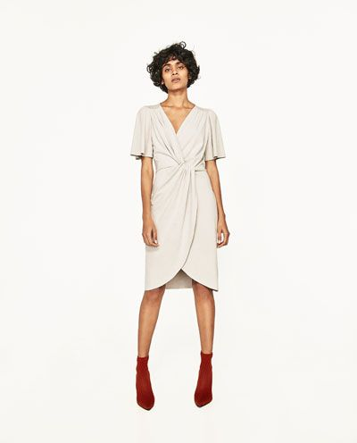decb36a60a81 DRESS WITH FRONT KNOT-DRESSES-WOMAN