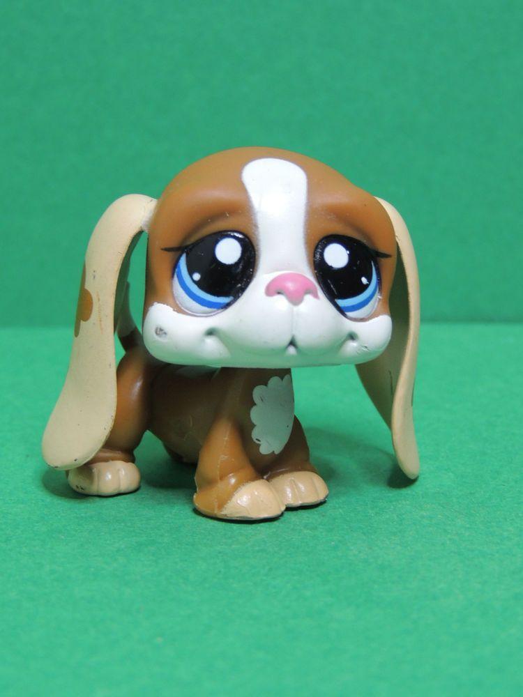 1655 chien dog brown caramel basset hound lps littlest - Chien pet shop ...