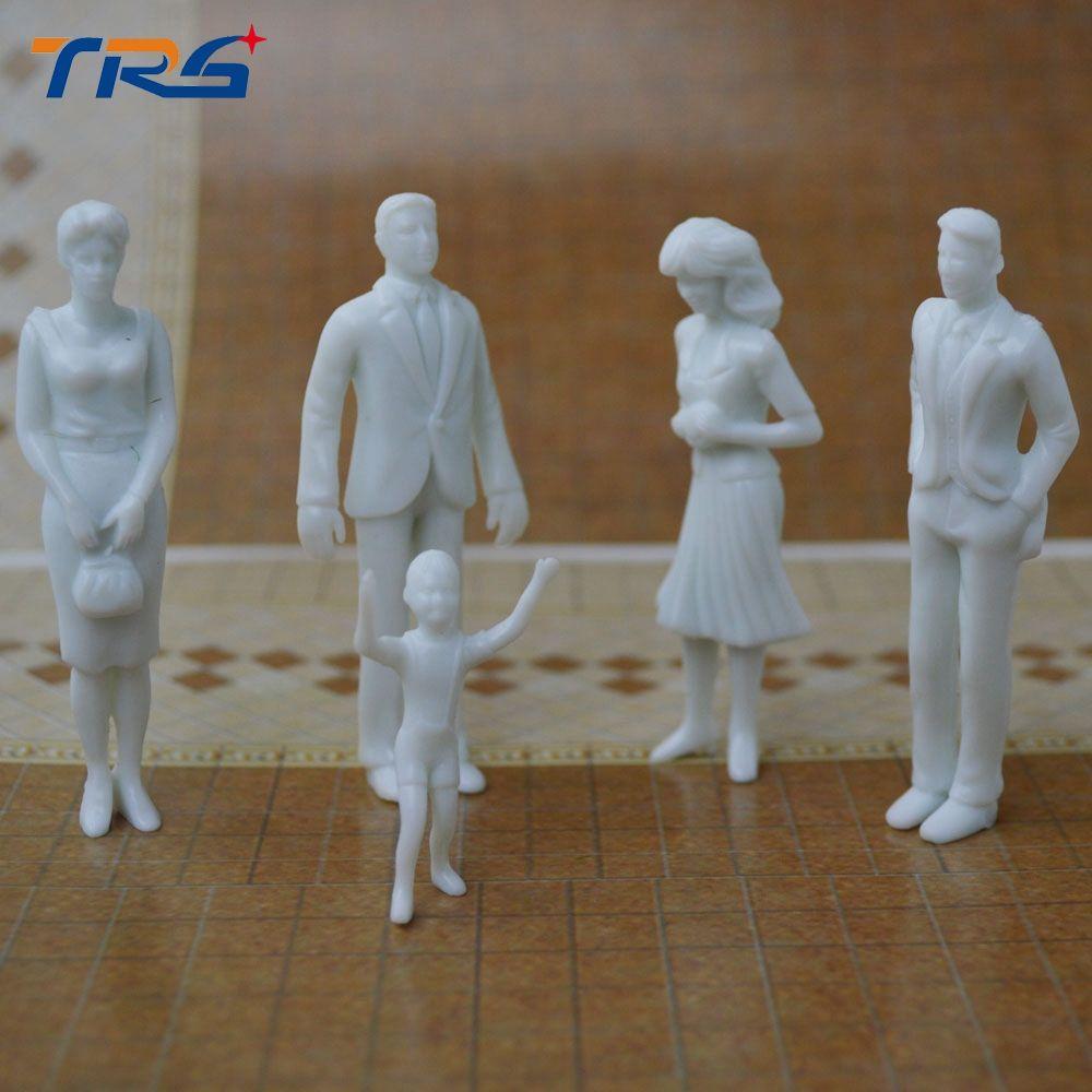 Teraysun Free Shipping 100pcs Miniature White Figures 1 25 Architectural Model Human Scale Ho Model Abs Plastic Peo Architecture Model White Figures Miniatures