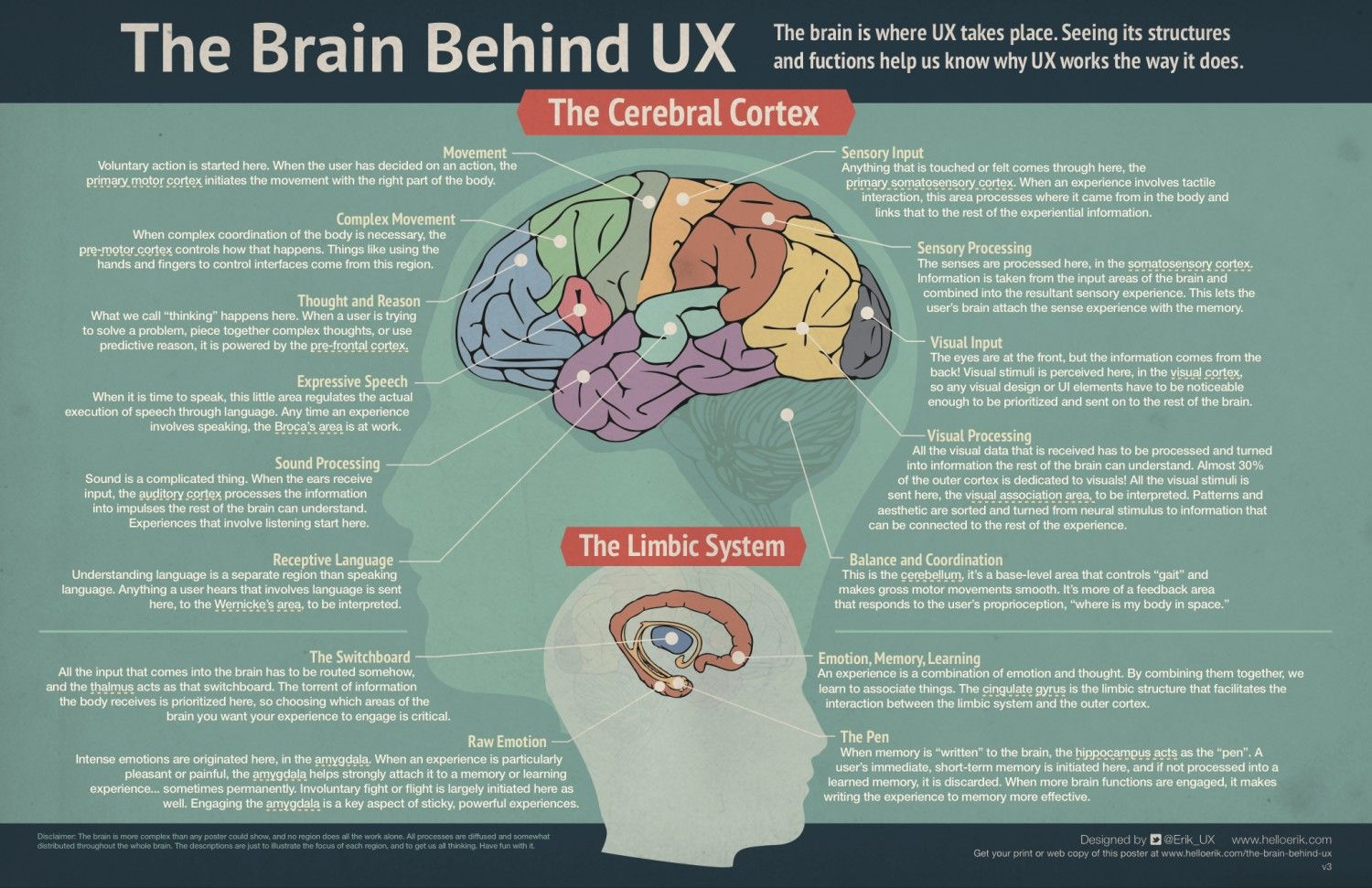 The brain behind ux uxcxixdsdpddesign thinking pinterest explore brain diagram user experience design and more ccuart Gallery