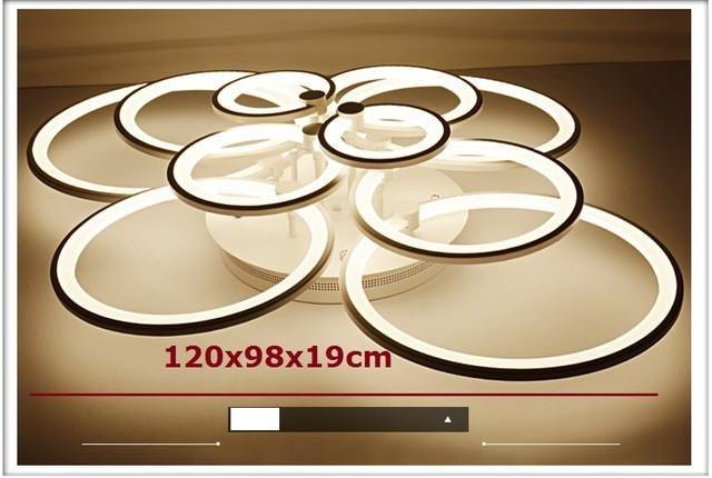 White Finished Led Circle Modern Chandelier Lights For Living Room Ceiling Lights & Fans Ceiling Lights
