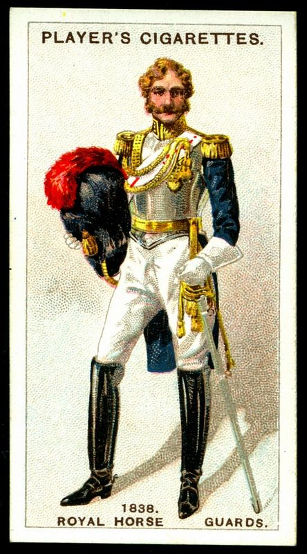 Cigarette Card - Royal Horse Guards, 1838/84.