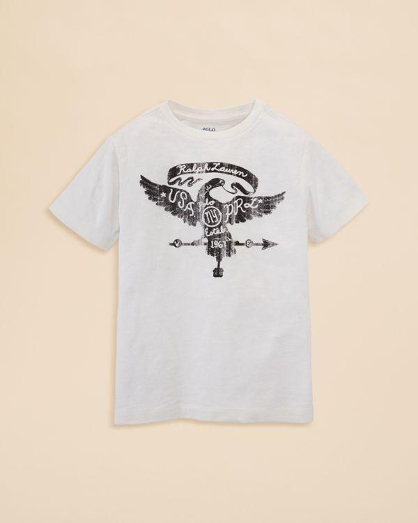 Ralph Lauren Childrenswear Boys' Eagle Graphic Tee - Sizes 2-7