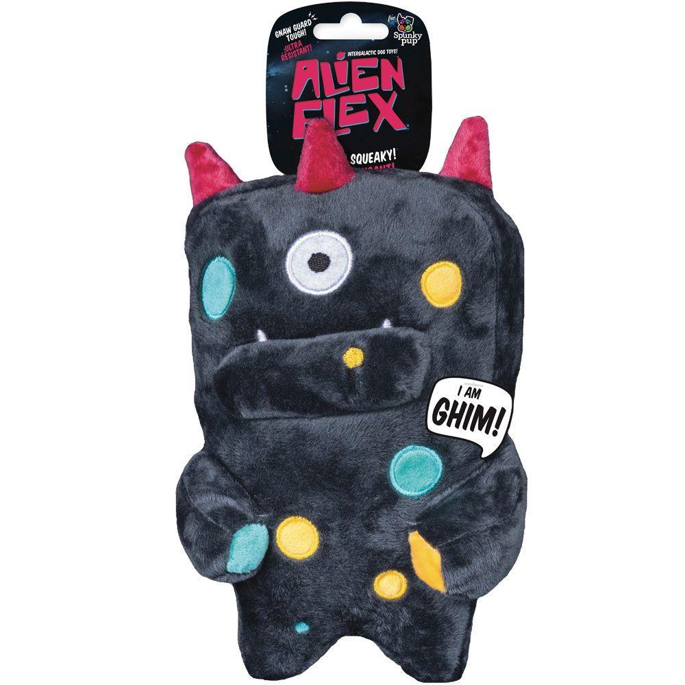 Spunky Pup Alien Flex Plush Toy Ghim Plush dog toys