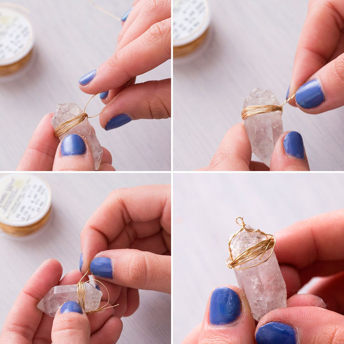 how to make a crystal necklace without wire