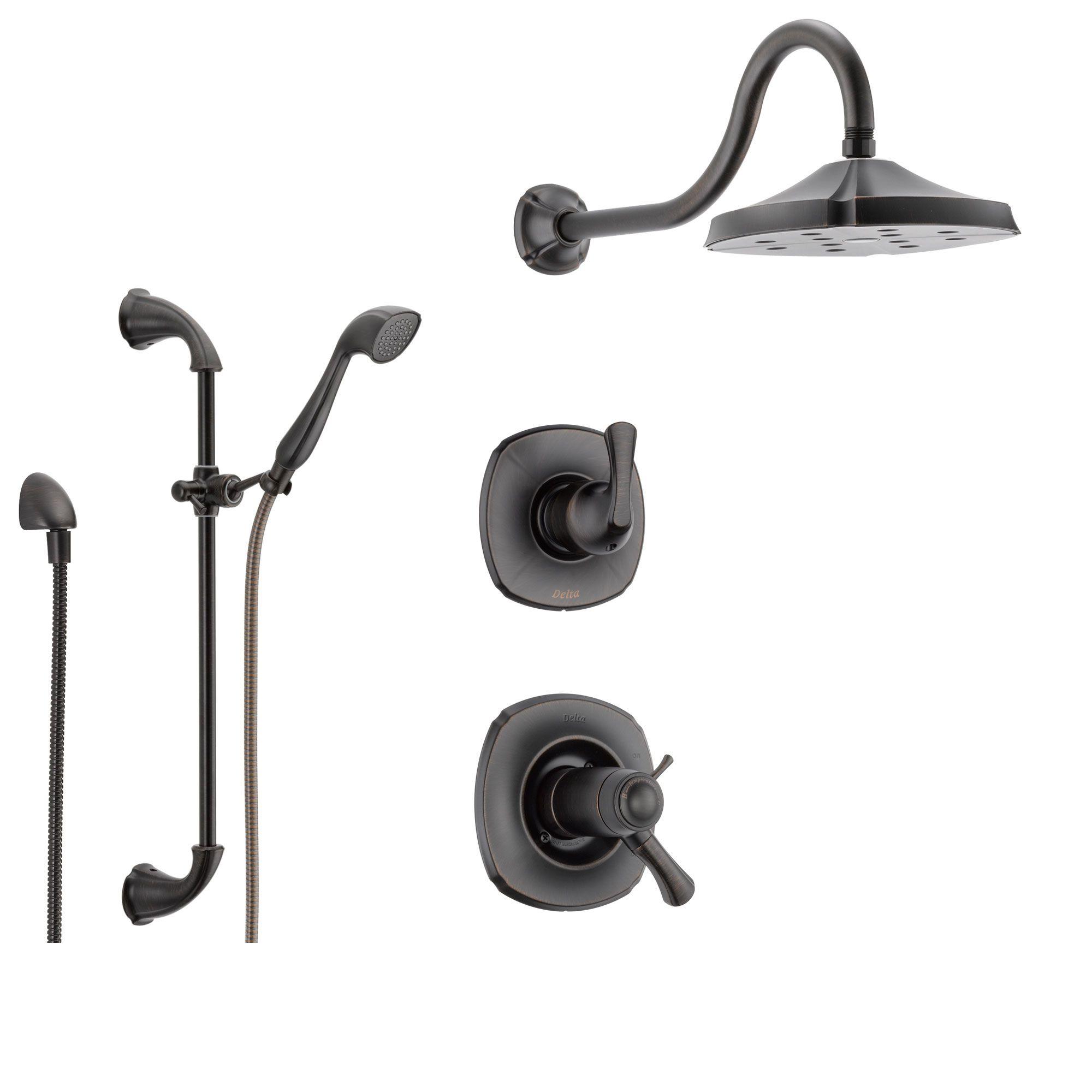 Delta addison bronze shower system with